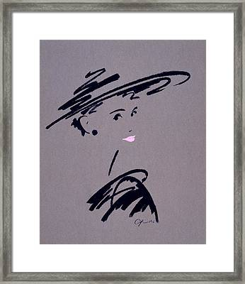 Womans Portrait Framed Print by Giannelli