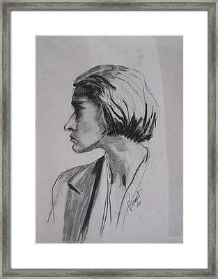 Woman's Profile Framed Print