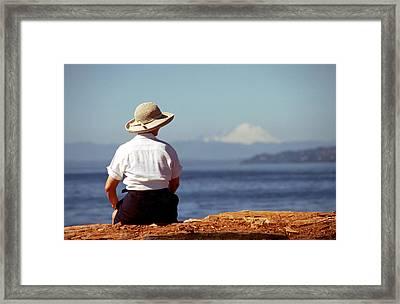 Woman's Solitude Framed Print