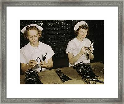 Women Assemble Bands For Blood Framed Print by Stocktrek Images