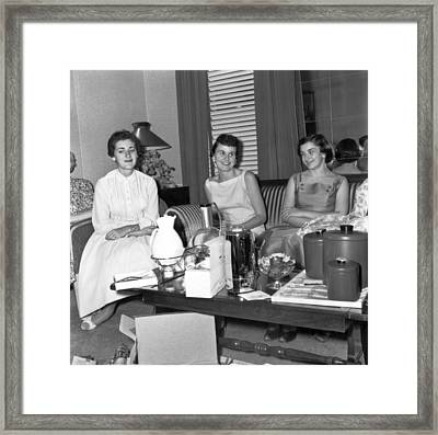 Women At A Housewares Party Framed Print by Underwood Archives