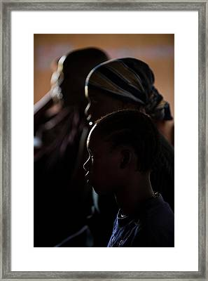 Women At An Education Centre Framed Print by Matthew Oldfield