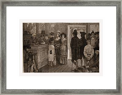 Women At The Polls In New Jersey In The Good Old Framed Print by Litz Collection