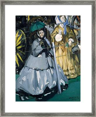 Women At The Races, 1865 Oil On Canvas Framed Print by Edouard Manet