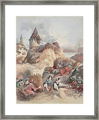 Women At The Siege Of Marseille Framed Print