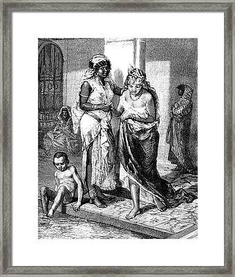 Women Bathing Framed Print by Collection Abecasis