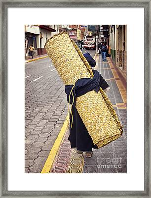 Women Carrying Petate Framed Print