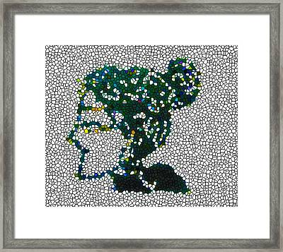 Women Chinese Papercut Framed Print by Lanjee Chee
