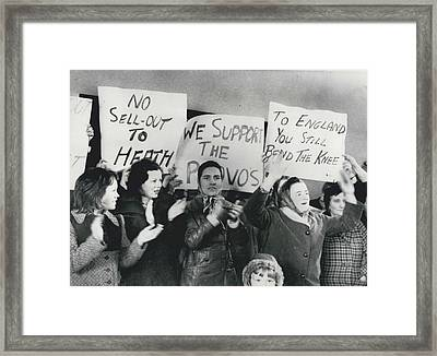 Women Clash In Belfast Framed Print by Retro Images Archive