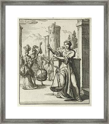 Women Contemplating An Orb, Globus Cruciger Is An Orb Framed Print by Litz Collection