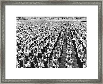 Women Doing Physical Culture Framed Print by Underwood Archives