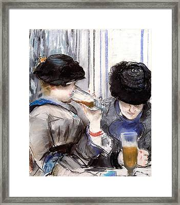 Women Drinking Beer, 1878 Framed Print by Edouard Manet