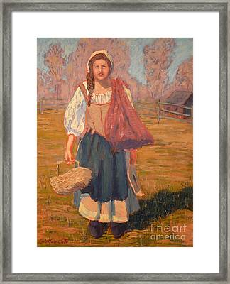Women From The Market Framed Print by Monica Caballero