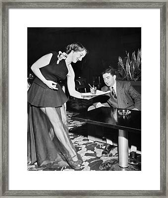 Women Give Service With Charm Framed Print by Underwood Archives