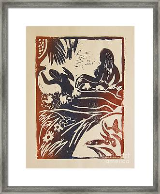 Women I A La Gauguin Framed Print