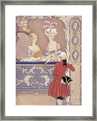 Women In A Theater Box Framed Print