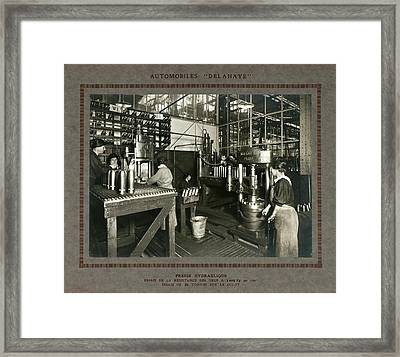 Women In Munitions Factory Framed Print by Science, Industry And Business Library/new York Public Library
