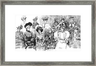 Women Jurors 1902 Framed Print by Padre Art