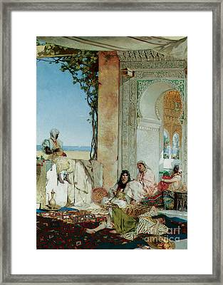 Women Of A Harem In Morocco Framed Print by Jean Joseph Benjamin Constant