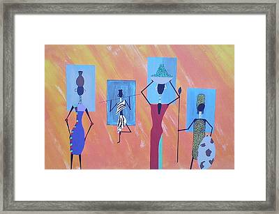 Women Of Color Framed Print by Lew Griffin