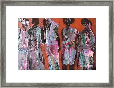 Women Of Dodoma Framed Print by Omar Hafidi