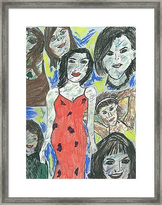 Women Of The 90's Collage Framed Print by Mark Flanagan