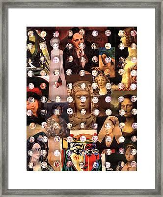 Women Of The Past Women Of The Present Framed Print by Irmari Nacht