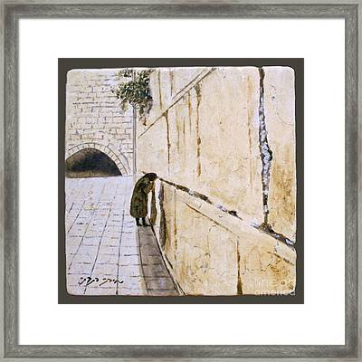 Women Of The Wall Framed Print by Miki Karni