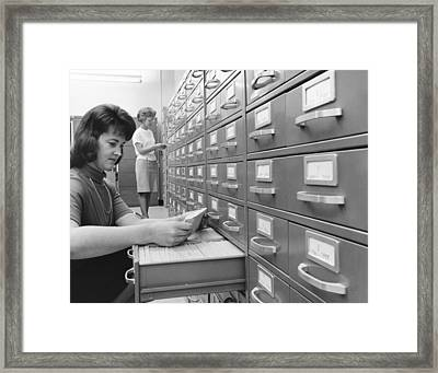 Women Office Workers Framed Print by Underwood Archives