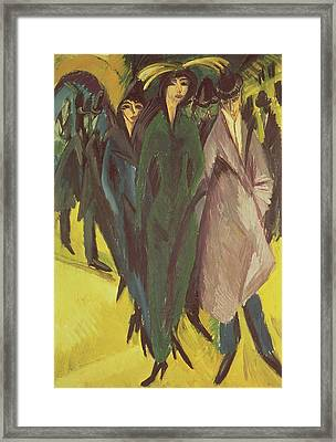 Women On The Street Framed Print by Ernst Ludwig Kirchner