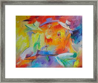 Women Out Framed Print by Nelya Shenklyarska