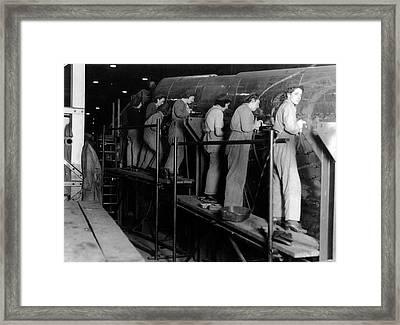 Women Riveter Framed Print