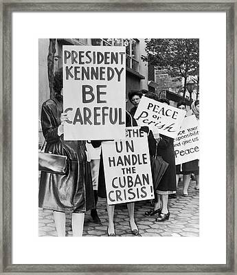 Women Strike For Peace Framed Print by Underwood Archives