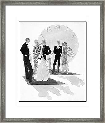 Women Wearing Chanel Framed Print by Jean Pag?s