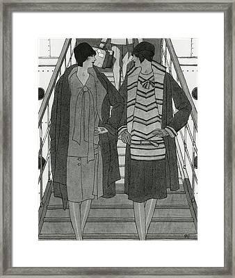 Women Wearing Chanel Framed Print by Pierre Mourgue