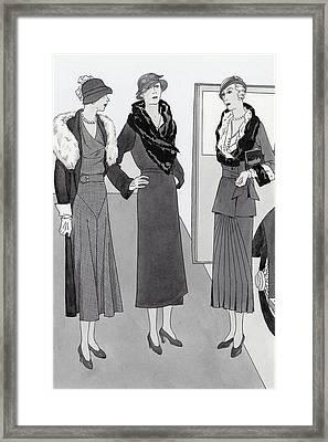 Women Wearing Clothing By Bendel's Framed Print