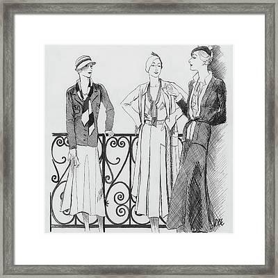 Women Wearing Molyneux Framed Print