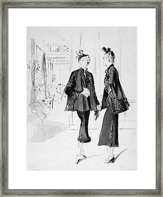 Women Wearing Molyneux Suits Framed Print by Rene Bouet-Willaumez