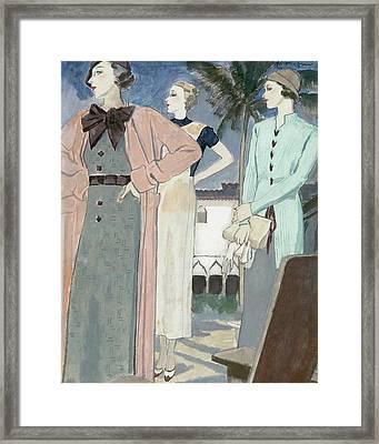 Women Wearing Woolen Knits Framed Print