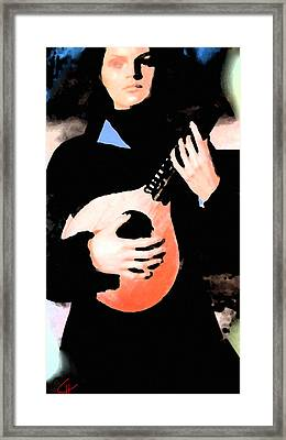 Women With Her Guitar Framed Print