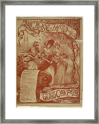 Women With Linked Arms In A Garden Framed Print