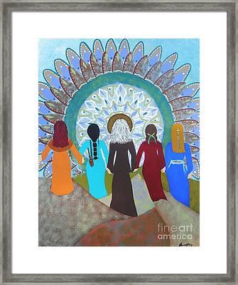 Women's Circle Mandala Framed Print