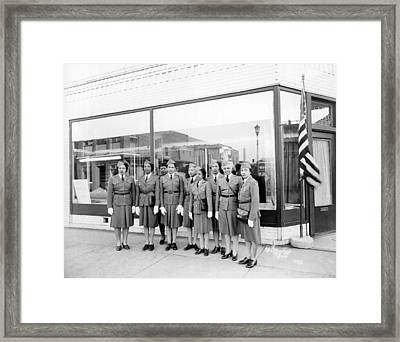 Womens Defense Corp Of America Framed Print