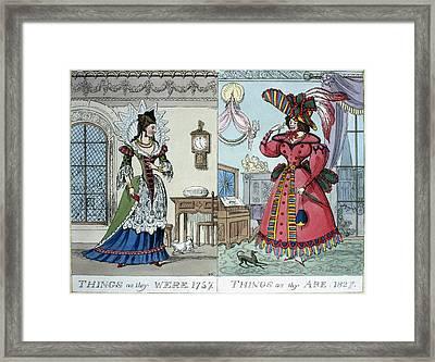 Women's Fashion, 1827 Framed Print by Granger