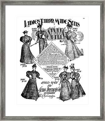 Women's Fashion, 1897 Framed Print by Granger