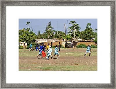 Women's Football Team Framed Print by Matthew Oldfield
