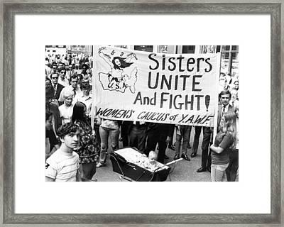 Women's Liberation Gathering Framed Print