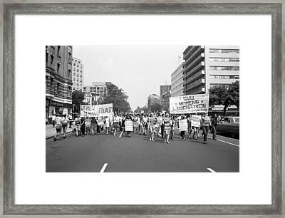 Women's Rights Demonstration Framed Print