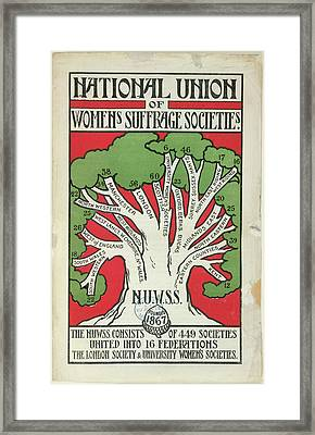 Women's Suffrage Societies Framed Print by British Library
