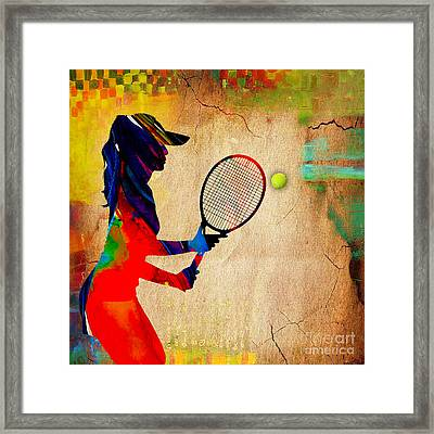 Womens Tennis Framed Print by Marvin Blaine